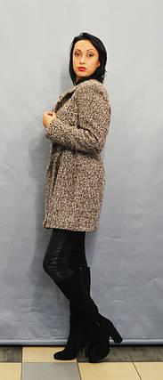 Пальто коричневый меланж ICON 8896, фото 2
