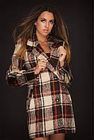 Пальто женское  в клетку кашемир 42,44,46