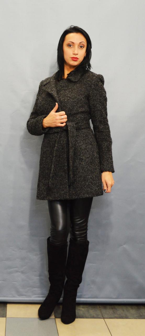 Пальто серый меланж ICON 8896