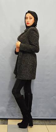 Пальто серый меланж ICON 8896, фото 2