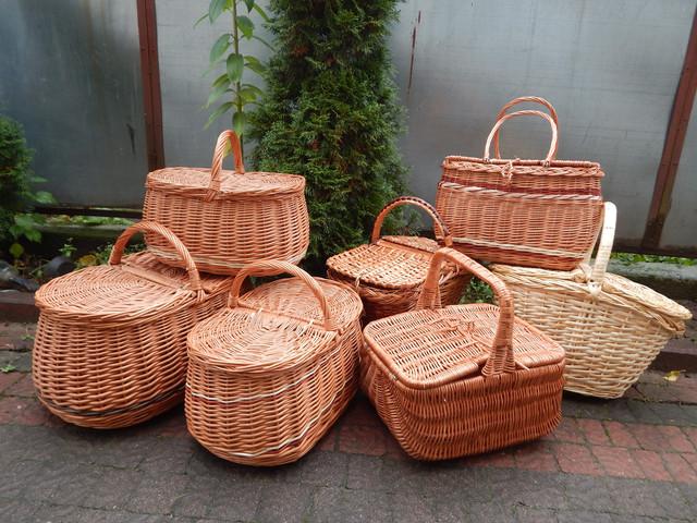 Пикниковые плетеные корзинки