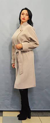 Пальто бежевое Velvet 22313, фото 2