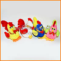 Мягкая игрушка петух - брелок на липучке 10 см