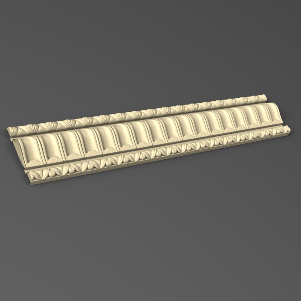 Профиль деревянный резной  75 мм
