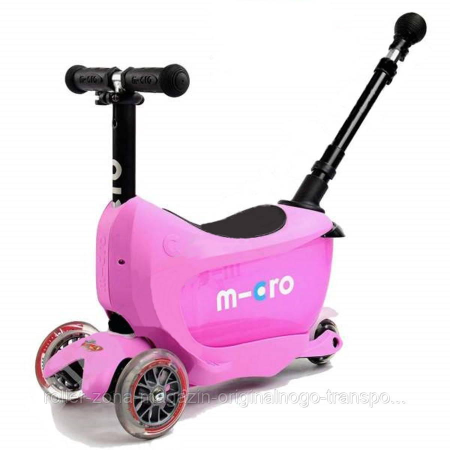 Самокат Micro Mini2go Pink Deluxe Plus