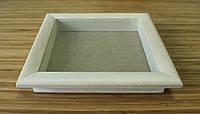 Рамка для 3D 10х10 см (липа скругленный 30 мм)