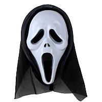 Маска Крик   - пластиковая с капюшеном - маска на Хэллоуин!, фото 1