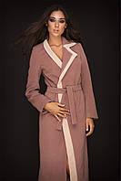 Пальто женское осеннее кашемировое капуччино 42,44,46,48