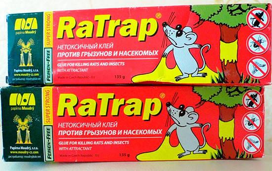Средство клей RaTrap (Ра трап)135 г - не высыхающий клей для борьбы с грызунами и насекомыми, фото 2
