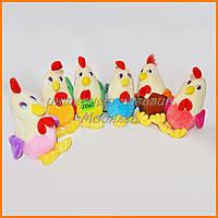 Мягкие игрушки музыкальный петушки цыплята 15 см