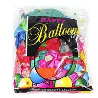 """Воздушные шарики """"Металик"""" большие, микс, 100 шт, J1225A"""