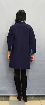Пальто батальное синее Sassofono 500301, фото 2