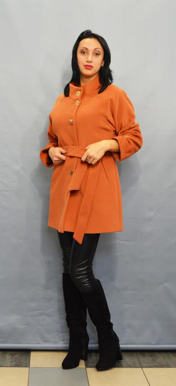 Пальто терракотовое ICON 9202