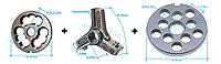 Комплект полуунгер R70 с решеткой 12 мм + нож со сменными лезвиями