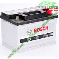 """Аккумулятор Bosch S3, 70Ah, En640, правый """"+"""" 278x175x190 (ДхШхВ) BOSCH 0 092 S30 080"""