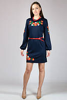 Платье-вышиванка МАКИ,с длинным рукавом р-46-52