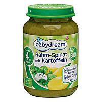 Babydream Bio Menü Rahm-Spinat mit Kartoffeln - Нежный шпинат с картофелем, с 4 месяца, 190 г