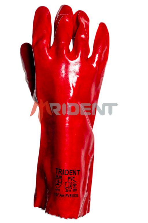Перчатки ПВХ с хб основой TRIDENT