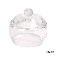 Посуда стеклянная круглая с крышкой для мономера