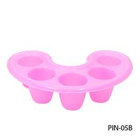 Пластиковая тара для снятия био-геля розовая