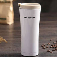 Термокружка Starbucks (Тамблер Старбакс) 500 мл белая
