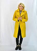 Стильное яркое женское пальто
