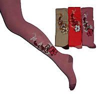 Колготи KBS  №5  4-30077 випуклі,квітка,люрекс