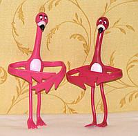 Пара розовых Фламинго - подвязки, подпорки для комнатных цветов