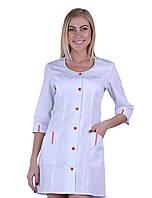 Женский медицинский халат с вырезом Rose