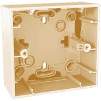 Коробка для наружного монтажа слоновая кость,серия Unica,Schneider