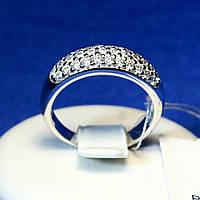 Серебряное кольцо с цирконием прозрачным 1225р, фото 1