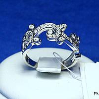 Серебряное кольцо с цирконием Ажурные завитки 1963р
