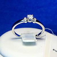 Серебряное кольцо с маленьким камнем 11004р, фото 1