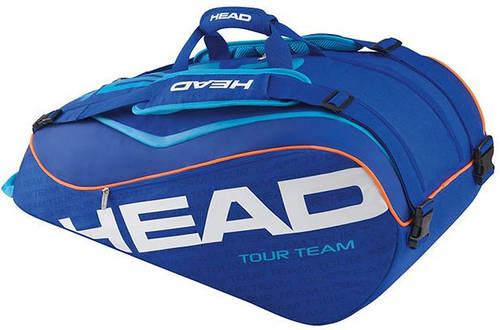 Комфортная сумка-чехол для большого тенниса на 9 ракеток 283226 Tour Team 9R Supercombi BLBL HEAD