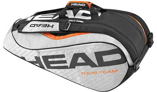 Серо-черная сумка-чехол для большого тенниса на 9 ракеток 283226 Tour Team 9R Supercombi SIBK HEAD
