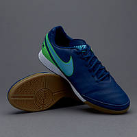 Футзалки Nike TiempoX Genio II Leather IC  819215-443, Найк Темпо