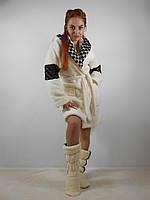 Махровый халат короткий с капюшоном Клеопатра