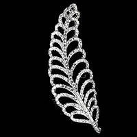 Кольцо серебро 925 пробы с белым цирконием