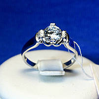Серебряное кольцо с фианитом 11028-1р, фото 1