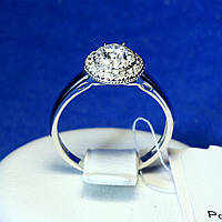Кольцо с фианитом из серебра 11031, фото 1