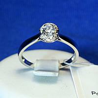 Серебряное кольцо для помолвки с кристаллами циркония 11035р