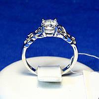 Серебряное кольцо с сердечками переплетенными 15093р, фото 1