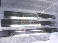Защита порогов - накладки на пороги Volkswagen PASSAT B6/CC/B7 с 2005/2008 гг. (Standart)