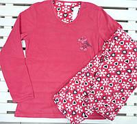 Женская теплая флисовая пижама размер M,
