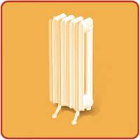 Радиатор чугунный 2К60 П 500мм (130Вт/секц.) 7 секций