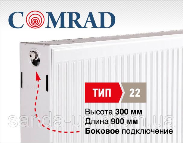 Стальной панельный радиатор COMRAD Compact 22 300x 900