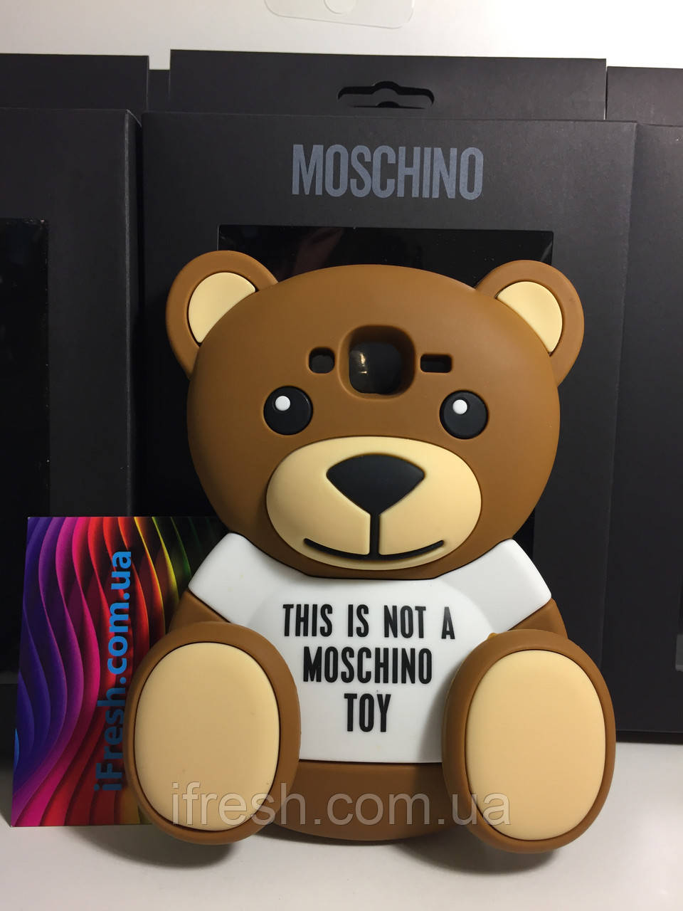 Чехол накладка медведь MOSCHINO для Samsung Galaxy J5