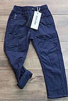 Утепленные катоновые брюки на флисе  3/4 года