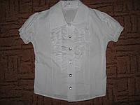 Блузка для девочки белая школьная