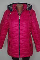 Женская демисезонная куртка на молнии батал